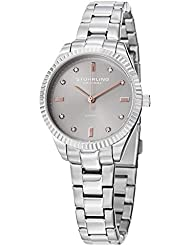 Stuhrling Original Womens 607L.03 Symphony Allure Stainless Steel Watch with Diamonds