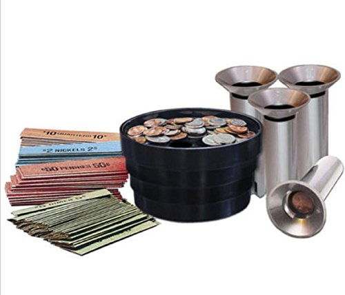SM NEW Coin Sorter Kit Bank Money Change Tubes Roll Wrap Pennies Quarters Nickels Dimes (Tray Counter Change)