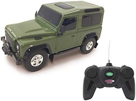 Jamara 405154-Land Rover Defender 1:24 Licencia Oficial Coche de Radio Control, Color Verde (405154)