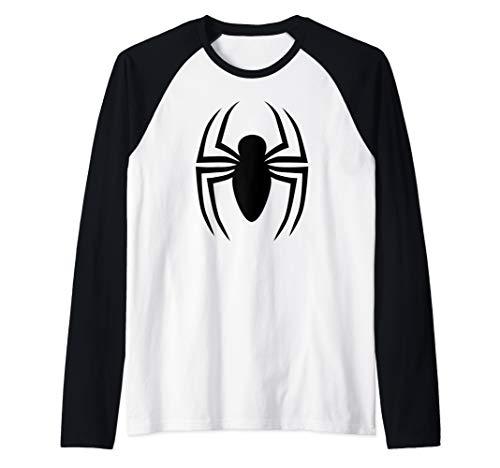 - Marvel Spider-Man Ultimate Black Logo Raglan Baseball Tee