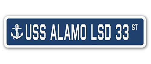 uss-alamo-lsd-33-street-sign-navy-ship-veteran-sailor-vet-usn-gift