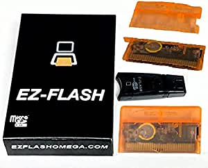 EZ Flash Omega Orange Transparent Special Limited Edition or Original Black Transparent Edition - Limited Production Run - Available only While Supplies Last. (Orange Transparent)