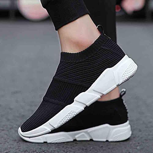 Casual De Zapatillas Malla Sin Cordones Para Bambas Luckygirls Mocasines Hombres Deportivo Calzado Zapatos Negro Correr Running qwYSWIf