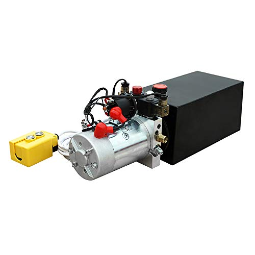 Fisters Trailer Pump 12 Quart 12V Electric Hydraulic Power Double Acting Power-Up Supply Unit for Dump Truck(12 Quart Double Acting)
