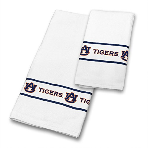 Auburn Tigers COMBO Shower Curtain, 4 Pc Towel Set & 1 Window Valance - Decorate your Bathroom & SAVE ON BUNDLING! by Sports Coverage
