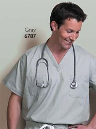 Fashion Seal - Unisex Reversible Set-In Sleeve Scrub Shirt - Small - Misty