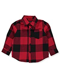 French Toast Baby Boys' L/S Plaid Flannel Button-Down