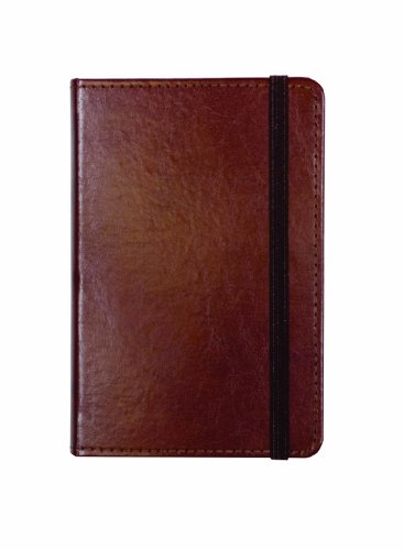 C.R. Gibson Genuine Bonded Leather Journal, By Markings, Smyth Sewn Binding, 192 Ivory Colored Ruled Pages, Pocket On Inside Back Cover, Measures 3.5