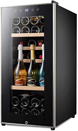 Lnspirationalギフトデコレーションアクセサリーサイレント41ボトルワイン冷蔵庫容量110L温度ゾーンタッチスクリーンワインクーラーワイン冷蔵庫カウンタートップ(最大860 Mm高さ)ブラックブラック