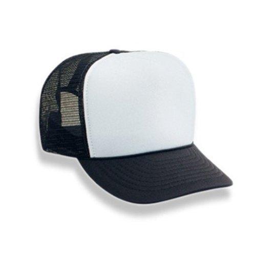 Wholesale Trucker Caps (Blank Mesh Trucker Hat Cap (Black & White))