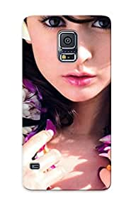Hot New Women Leah Dizon Flowers Celebrity Asians Black Hair Case Cover For Galaxy S5 With Perfect Design