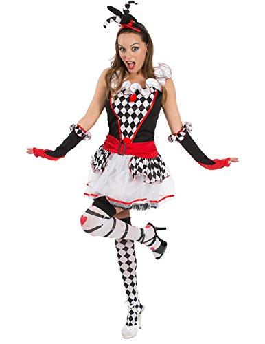 Adult Harlequin Honey Jester Fancy Dress Halloween Costume -