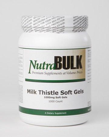 Lait NutraBulk Thistle souple Gels 1000 Comte