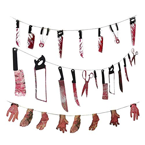 Party Diy Decorations - Halloween Party Horror Spooky Haunted House Hanging Garland Pendant Banner Diy Decorations - Decorations Party Party Decorations Halloween Decor Easter Horror Necklace -