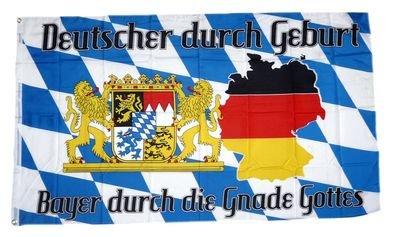 Fahne Flagge Deutscher durch die Gnade Gottes 90 x 150 cm