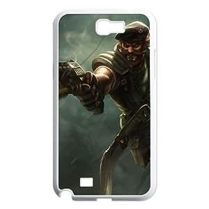 League of Legends(LOL) Gangplank Samsung Galaxy N2 7100 Cell Phone Case White DIY Gift pxf005-3581805