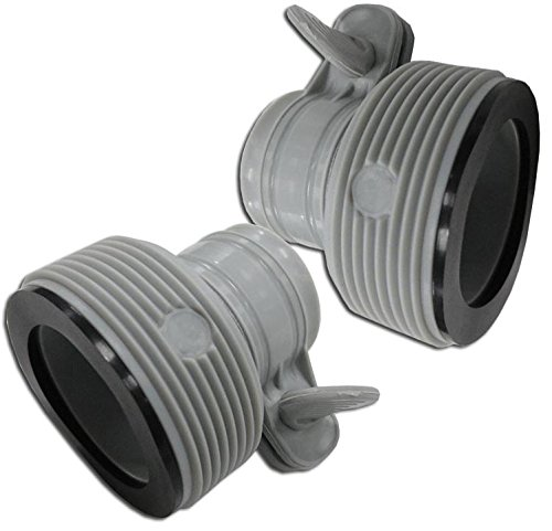 "INTEX 1.25"" to 1.5"" Type B Hose Adapters for Pumps & Saltwater System 