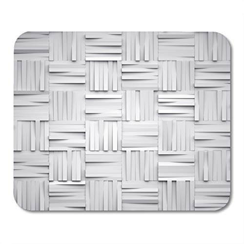 Boszina Mouse Pads Blank White Architectural 3D Render Digital Abstract Geometric Block Architecture Box Mouse Pad for notebooks,Desktop Computers mats 9.5