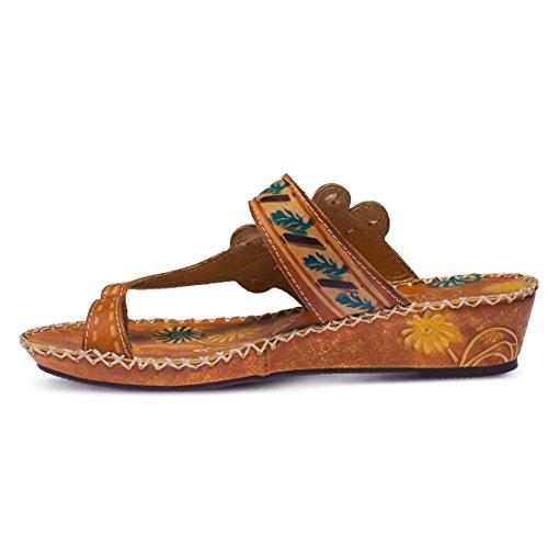 Spring Step Women's, Santorini Thong Sandal Camel