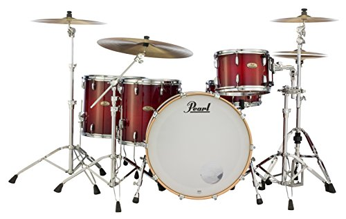 Pearl STS944XP/C315 Session Studio Select Series 4-Piece shell pack (hardware/cymbals not included), Antique Crimson - Burst Floor Tom