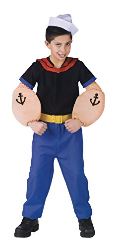 UHC Popeye The Sailor Man Funny Theme Toddler Kids Outfit Halloween Costume, -