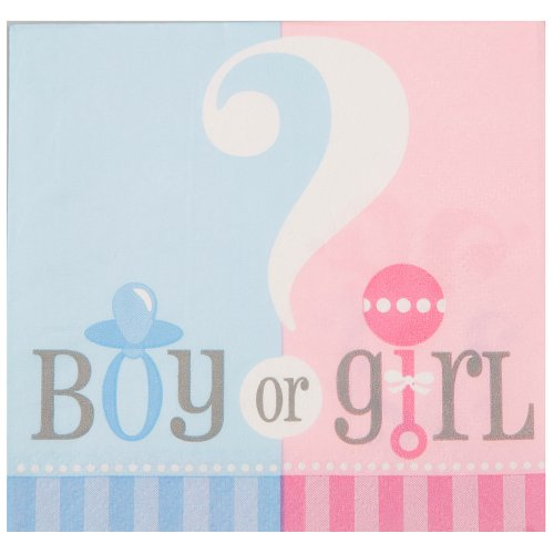 [Gender Reveal Beverage Napkins, 24ct] (Fast Easy Boy Costumes)