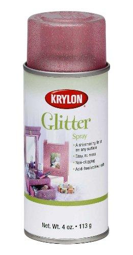 Krylon I00403 Glitter Aerosol Spray, Resplendent Red