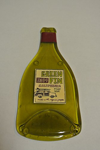 Green Fin Pinot Noir Winery Melted Wine Bottle Cheese Serving Tray - Wine Gifts