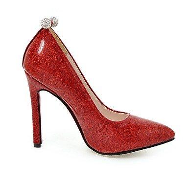 Rojo Silver resorte Talones de vestido del tacón novia Oro Plata Otro cuero las mujeres de de verano del de aguja Otros de wpfpYU1q