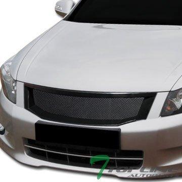 - Topline Autopart Black Aluminum Mesh Front Hood Bumper Grill Grille Cover Abs 08-10 Accord 4D 4Dr by Topline_autopart