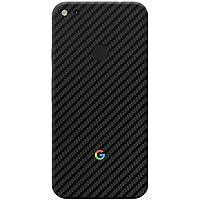 Crystal Skin Black Carbon Skin for Google Pixel (Back Only).