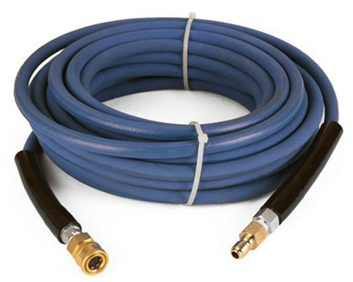 Raptor Blast 6000 PSI BLUE 2 Wire Braid NON Marking Pressure Washer Hose 50' w/ Couplers 100' Black Blast Hose