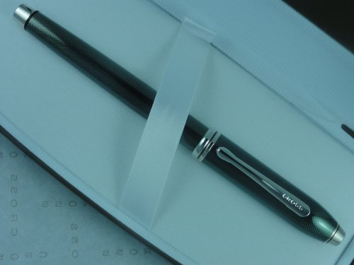 Cross Townsend Limited Edition Quartz Nile Green Townsend Gel Ink Rollerball Pen with Rhodium Appointment. Rare Collectible by CROSS