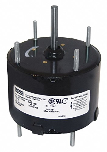 Purpose Motor General Fasco (Fasco D402 3.3-Inch General Purpose Motor, 1/60 HP, 115 Volts, 3000 RPM, 1 Speed.75 Amps, Totally Enclosed, CWSE Rotation, Sleeve Bearing)