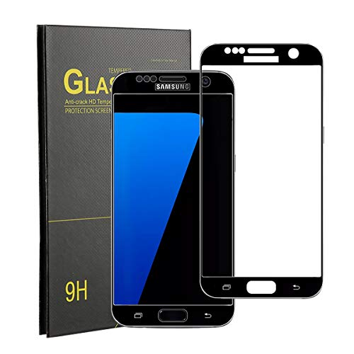 素人過去割り込みSamsung Galaxy S7 ガラスフィルム ギャラクシーs7 ガラスフィルム 全面保護 3Dラウンドエッジ加工 硬度9H 指紋防止 気泡レス 飛散防止 ケースに干渉せず 液晶保護 強化ガラスフィルム ブラック
