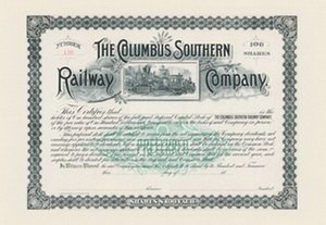 The Columbus Southern Railway Company 20x30 poster