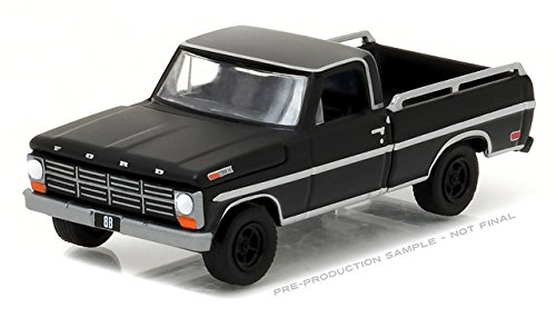 NEW 1:64 GREENLIGHT BLACK BANDIT COLLECTION SERIES 17 - BLACK 1968 FORD F-100 WITH BED RAIL Diecast Model Car By Greenlight (Rail Collection)