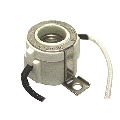 General 00441 - Halogen Miniature Candelabra Base Lamp Holder with 2-Hole Mount and 7