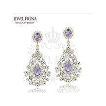 Europe And America Classic Fashion Round Rhinestone Alloy Drop Earrings for Women