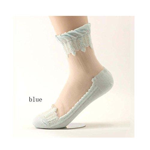 006 Aggiungi Hell Femme salute calze donna Chaussettes Blau RBqHzR