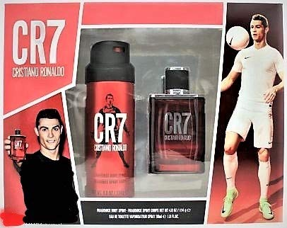 Cristiano Ronaldo CR7 Set Eau de Toilette Ml.50 + Fragrance Body Spray Ml.150 EDEN PARFUM LTD