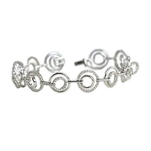 Pendentif et collier avec un solitaire diamant Rond Or blanc-750/1000 ( 2.1 Ct, G Couleur, SI2 Clarté)
