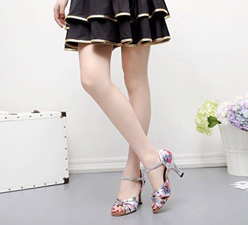 Rose Light 5cm femme Heel Pink de Danse Salon Minitoo 7 18XUIw