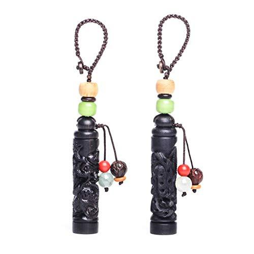 Dragon and Phoenix Car Keychain Couple Pendant, Detachable