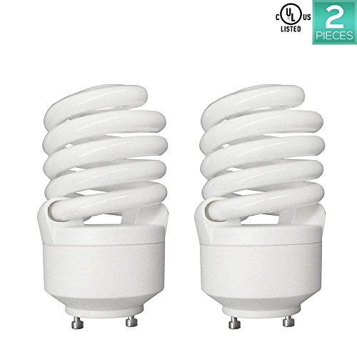 Linear Clear Incandescent Light Bulb (Luxrite LR22322 (2-Pack) CF23 23-Watt CFL T2 Spiral Bulb, Equivalent To 100W Incandescent, Cool Light 4100K, 1600 Lumens, GU24 Bi-Pin Base)