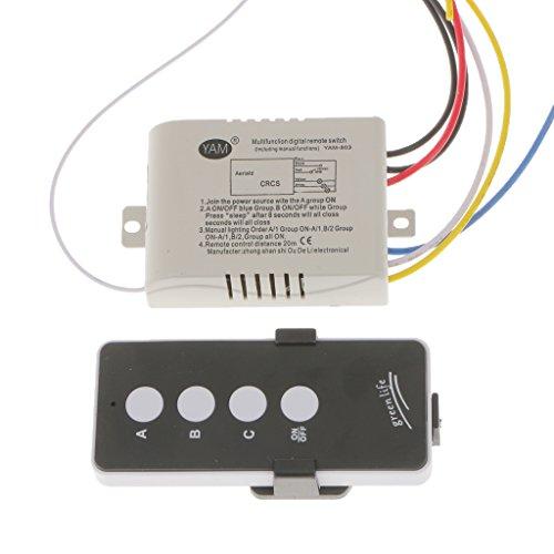 MagiDeal Drei-Wege-Wireless Lampe Licht Fernbedienung Schalter ...