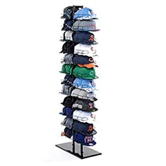 d9994780c99 Image Unavailable. Image not available for. Color  New Double Sided Baseball  Cap Hat Rack Floor Standing Display Tower Black