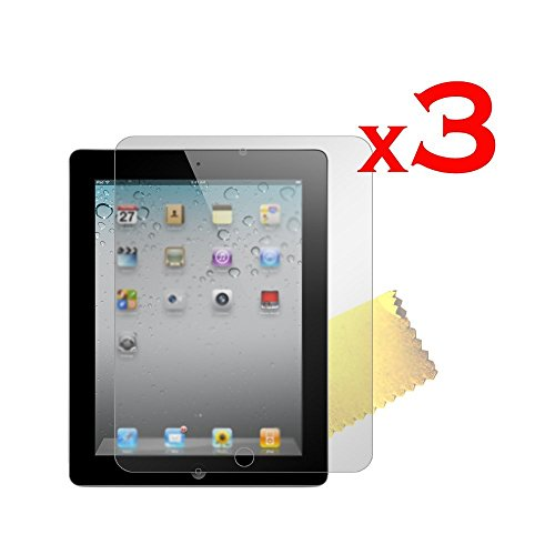 For-Apple-Ipad-2-3-4-New-Screen-Protector-with-Cleaning-Cloth-pack-of-3-Anti-Glare