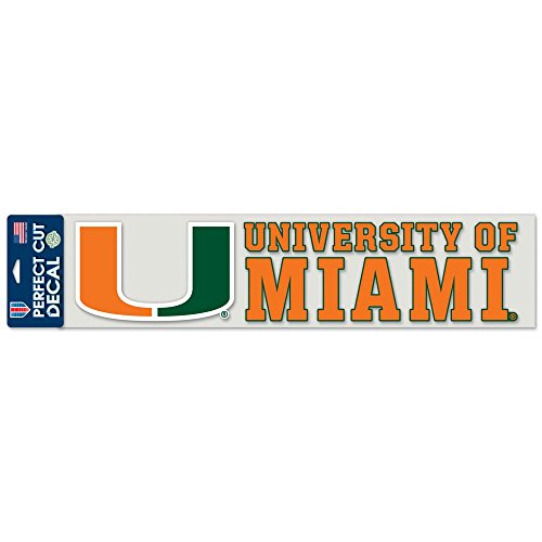 WinCraft NCAA University of Miami (Florida) Perfect Cut Decals, 4