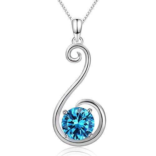 - Fine Jewelry Gifts for Women Girls Pendant Necklaces Natural Gemstone 925 Sterling Silver Graduation Gifts